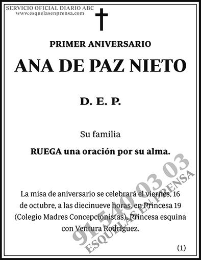 Ana de Paz Nieto